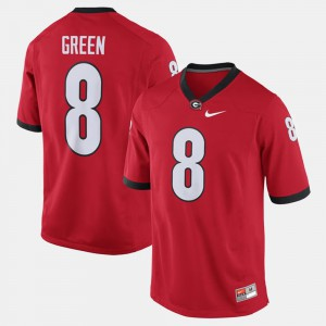 #8 A.J. Green Georgia Bulldogs For Men's Alumni Football Game Jersey - Red