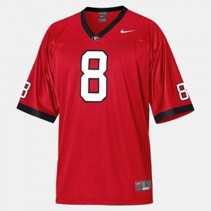 #8 A.J. Green Georgia Bulldogs For Men's College Football Jersey - Red