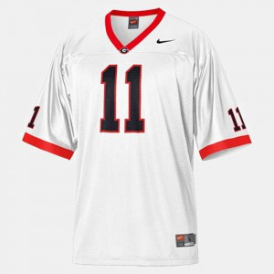 #11 Aaron Murray Georgia Bulldogs College Football For Men's Jersey - White