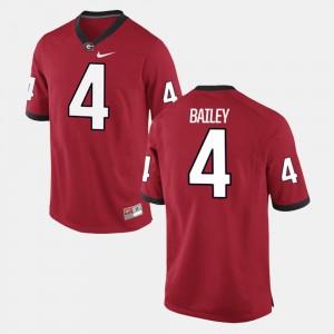 #4 Champ Bailey Georgia Bulldogs For Men Alumni Football Game Jersey - Red