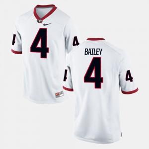 #4 Champ Bailey Georgia Bulldogs Alumni Football Game Men's Jersey - White