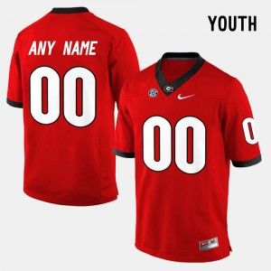 #00 Georgia Bulldogs College Limited Football For Kids Custom Jerseys - Red