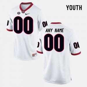 #00 Georgia Bulldogs College Limited Football Kids Customized Jersey - White