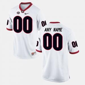 #00 Georgia Bulldogs College Limited Football Men's Customized Jerseys - White