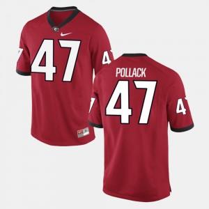#47 David Pollack Georgia Bulldogs Men's Alumni Football Game Jersey - Red