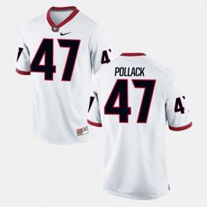 #47 David Pollack Georgia Bulldogs Alumni Football Game For Men's Jersey - White
