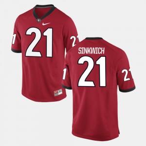 #21 Frank Sinkwich Georgia Bulldogs Alumni Football Game For Men Jersey - Red