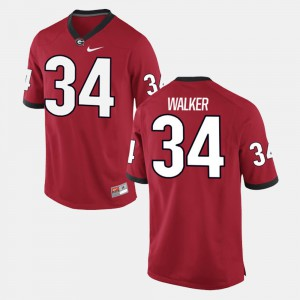 #34 Herschel Walker Georgia Bulldogs Men's Alumni Football Game Jersey - Red