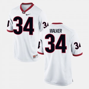 #34 Herschel Walker Georgia Bulldogs Alumni Football Game For Men Jersey - White