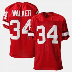 #34 Herschel Walker Georgia Bulldogs College Football For Men's Jersey - Red