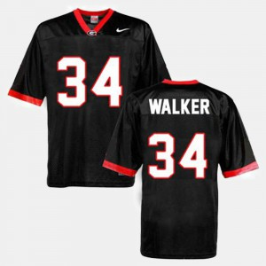 #34 Herschel Walker Georgia Bulldogs College Football For Men Jersey - Black