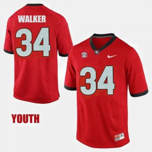 #34 Herschel Walker Georgia Bulldogs Kids College Football Jersey - Red