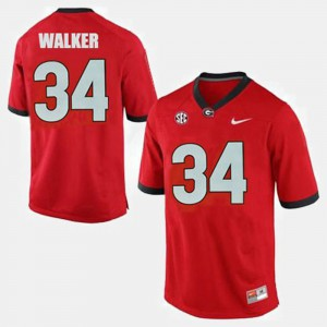 #34 Herschel Walker Georgia Bulldogs College Football For Men Jersey - Red