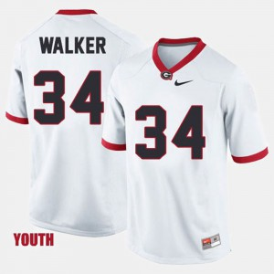 #34 Herschel Walker Georgia Bulldogs College Football Youth(Kids) Jersey - White