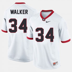 #34 Herschel Walker Georgia Bulldogs College Football For Men's Jersey - White