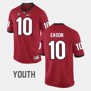 #10 Jacob Eason Georgia Bulldogs College Football For Kids Jersey - Red