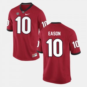 #10 Jacob Eason Georgia Bulldogs College Football Mens Jersey - Red