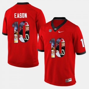 #10 Jacob Eason Georgia Bulldogs Player Pictorial Men's Jersey - Red