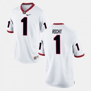 #1 Mark Richt Georgia Bulldogs Alumni Football Game Mens Jersey - White