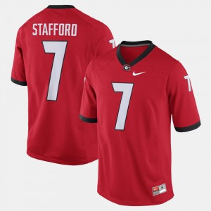 #7 Matthew Stafford Georgia Bulldogs Alumni Football Game For Men's Jersey - Red