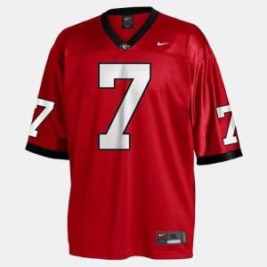 #7 Matthew Stafford Georgia Bulldogs College Football Men Jersey - Red