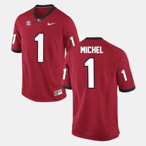 #1 Sony Michel Georgia Bulldogs College Football For Men Jersey - Red