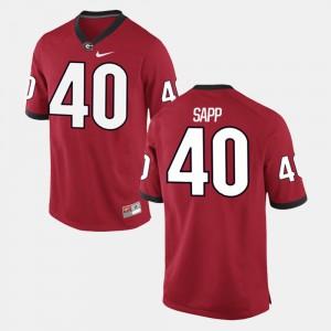 #40 Theron Sapp Georgia Bulldogs For Men's Alumni Football Game Jersey - Red