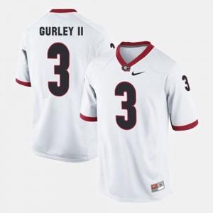#3 Todd Gurley II Georgia Bulldogs For Men College Football Jersey - White
