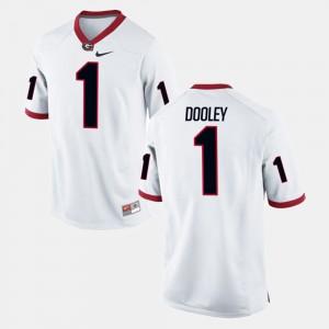 #1 Vince Dooley Georgia Bulldogs Alumni Football Game For Men Jersey - White