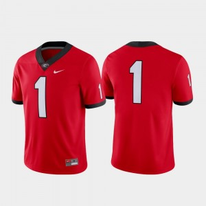 #1 Georgia Bulldogs Football Game Mens Jersey - Red