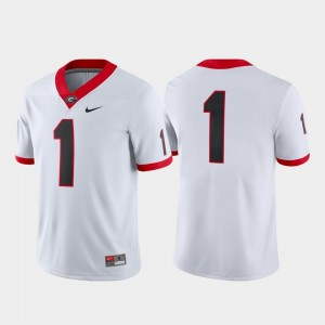 #1 Georgia Bulldogs Men Game College Football Jersey - White