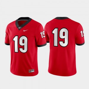 #19 Georgia Bulldogs Game Mens Jersey - Red
