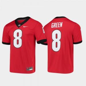 #8 A.J. Green Georgia Bulldogs Game Men's Alumni Player College Football Jersey - Red