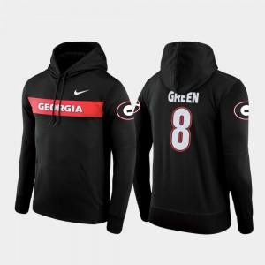 #8 A.J. Green Georgia Bulldogs For Men Sideline Seismic Football Performance Hoodie - Black