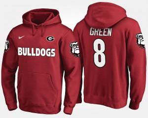 #8 A.J. Green Georgia Bulldogs Men's Hoodie - Red