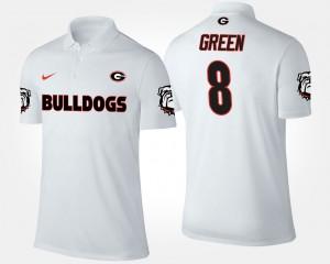 #8 A.J. Green Georgia Bulldogs Men Polo - White