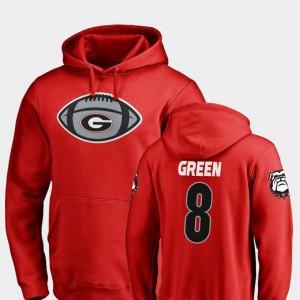 #8 A.J. Green Georgia Bulldogs Football Game Ball For Men's Hoodie - Red
