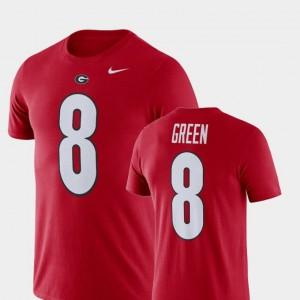 #8 A.J. Green Georgia Bulldogs Men Football Performance T-Shirt - Red