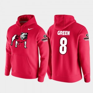 #8 A.J. Green Georgia Bulldogs Vault Logo Club College Football Pullover For Men's Hoodie - Red