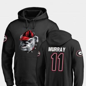 #11 Aaron Murray Georgia Bulldogs Midnight Mascot Mens Football Hoodie - Black