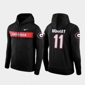 #11 Aaron Murray Georgia Bulldogs Mens Sideline Seismic Football Performance Hoodie - Black
