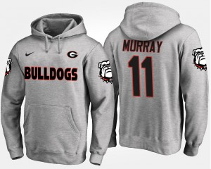 #11 Aaron Murray Georgia Bulldogs Mens Hoodie - Gray