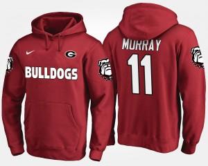 #11 Aaron Murray Georgia Bulldogs Men's Hoodie - Red