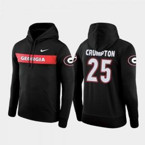 #25 Ahkil Crumpton Georgia Bulldogs Men's Football Performance Sideline Seismic Hoodie - Black