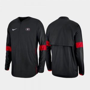 Georgia Bulldogs Men's 2019 Coaches Sideline Quarter-Zip Jacket - Black
