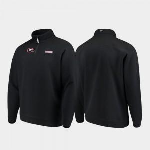 Georgia Bulldogs Shep Shirt Quarter-Zip Mens Jacket - Black