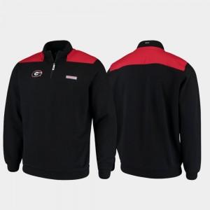 Georgia Bulldogs Quarter-Zip Pullover Shep Shirt Mens Jacket - Black