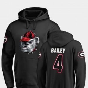 #4 Champ Bailey Georgia Bulldogs Midnight Mascot Football Men's Hoodie - Black
