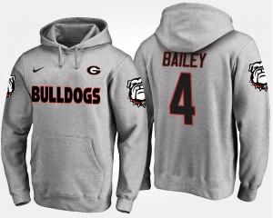 #4 Champ Bailey Georgia Bulldogs Men Hoodie - Gray