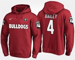 #4 Champ Bailey Georgia Bulldogs Men Hoodie - Red
